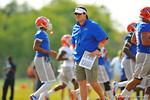The Florida Gators continue their spring practices running conditioning drills, position drills and offense vs defense competitions.  Florida Gators Spring Practice 2014.  March 21st, 2014.  Gator Country photo by David Bowie.