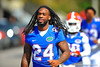 Gator RB Matt Jones jogs toward practice without pads on.  Florida Gators Spring Practice 2014.  March 26st, 2014.  Gator Country photo by David Bowie.