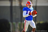 WR Alvin Bailey sprints up field after making a catch during practice.  Florida Gators Spring Practice 2014.  March 26st, 2014.  Gator Country photo by David Bowie.