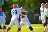DL Antonio Riles and DL Dakota Wilson during spring practice.  Florida Gators Spring Practice 2014.  March 26st, 2014.  Gator Country photo by David Bowie.