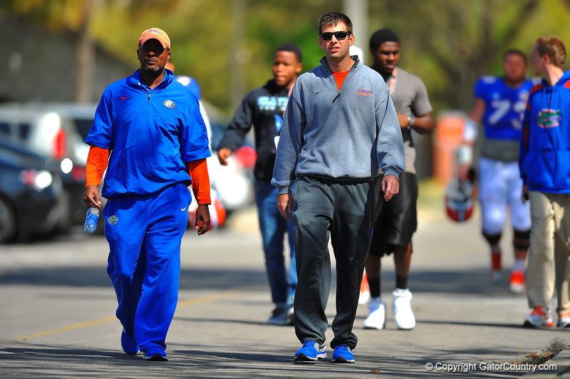 The Florida Gator football team makes their way into spring practice.  Florida Gators Spring Practice 2014.  March 26st, 2014.  Gator Country photo by David Bowie.