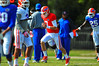 QB Will Grier sprints during warm ups for spring practice.  Florida Gators Spring Practice 2014.  March 26st, 2014.  Gator Country photo by David Bowie.
