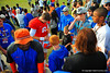 Gator QB Jeff Driskel signs autographs for the fans after practice.  Florida Gators Spring Practice 2014.  March 26st, 2014.  Gator Country photo by David Bowie.