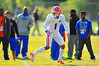 DB Vernon Hargreaves, III sprints back into coverage during practice.  Florida Gators Spring Practice 2014.  March 26st, 2014.  Gator Country photo by David Bowie.