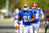 Gator RB Kelvin Taylor jogs toward the Gator practice field for spring practice. Florida Gators Spring Practice 2014.  March 26st, 2014.  Gator Country photo by David Bowie.