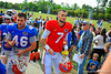 Gator QB Will Grier leaves the practice field.  Florida Gators Spring Practice 2014.  March 26st, 2014.  Gator Country photo by David Bowie.