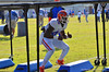 LB Jarrad Davis runs during a defensive drill at practice.  Florida Gators Spring Practice 2014.  March 26st, 2014.  Gator Country photo by David Bowie.
