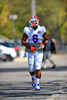 DL Dante Fowler, Jr jogs toward the Gator practice field for spring practice.  Florida Gators Spring Practice 2014.  March 26st, 2014.  Gator Country photo by David Bowie.