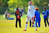 DB Vernon Hargreaves, III lines up for his drill during practice.  Florida Gators Spring Practice 2014.  March 26st, 2014.  Gator Country photo by David Bowie.