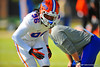 DL Sterling Stanley during a practice drill.  Florida Gators Spring Practice 2014.  March 26st, 2014.  Gator Country photo by David Bowie.