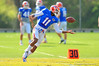 Gator WR Demarcus Robinson bobbles the pass during a catching drill.  Florida Gators Spring Practice 2014.  March 26st, 2014.  Gator Country photo by David Bowie.