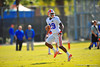 Gator DB Evan Schroeder sprints downfield during practice.  Florida Gators Spring Practice 2014.  March 26st, 2014.  Gator Country photo by David Bowie.