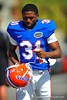 RB Darius Masline jogs toward the Gator practice field for spring practice.  Florida Gators Spring Practice 2014.  March 26st, 2014.  Gator Country photo by David Bowie.