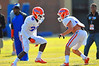 DB Kerollin Francois tries to block his Gator teammate during practice.  Florida Gators Spring Practice 2014.  March 26st, 2014.  Gator Country photo by David Bowie.