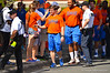 The Florida Gators walk into the stadium during the Gator Walk for the 2014 Orange and Blue Debut.