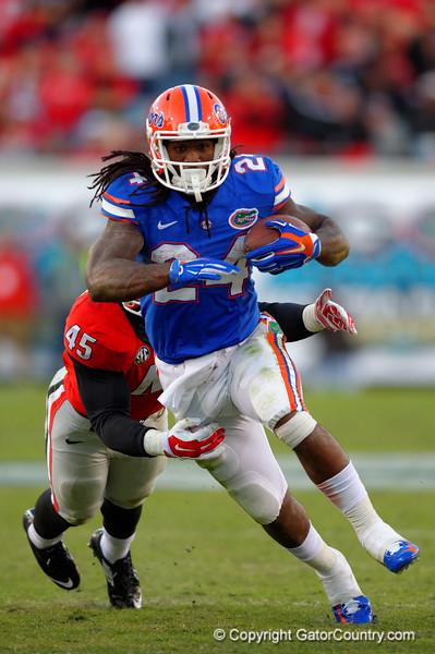 The Florida Gators upset the Georgia Bulldogs 38-20.