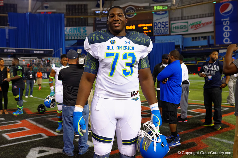 2015 Under Armour All-America High School Football Game.  January 2nd, 2015. Gator Country photo by David Bowie.