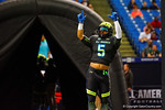 University Laboratory School running back Nick Brossette runs out of the tunnel and onto the field during team introductions.  2015 Under Armour All-America High School Football Game.  January 2nd, 2015. Gator Country photo by David Bowie.
