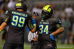Team Armour DT Daylon Mack and Team Armour DE Canton Kaumatule congratulate each other on a good game.  2015 Under Armour All-America High School Football Game.  January 2nd, 2015. Gator Country photo by David Bowie.