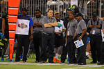 Team Armour head coach Steve Mariucci looks on from the sideline.  2015 Under Armour All-America High School Football Game.  January 2nd, 2015. Gator Country photo by David Bowie.