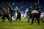 Team Highlight kicker Justin Yoon kicks in a field goal to put Team Highlight up 3-0 in the first quarter.  2015 Under Armour All-America High School Football Game.  January 2nd, 2015. Gator Country photo by David Bowie.