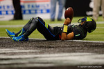 Team Armour QB Kyler Murray lays on the ground after fumbling the ball and picking it up near the goal line.  2015 Under Armour All-America High School Football Game.  January 2nd, 2015. Gator Country photo by David Bowie.