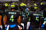 Team Armour OG Tyler Jordan in the huddle.  2015 Under Armour All-America High School Football Game.  January 2nd, 2015. Gator Country photo by David Bowie.