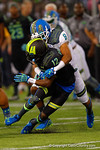 Team Armour WR Christian Kirk is tackled by Team Highlight CB Iman Marshall.  2015 Under Armour All-America High School Football Game.  January 2nd, 2015. Gator Country photo by David Bowie.