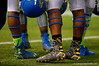 Team Highlight DE Byron Cowart sporting Batman Under Armour shoes for the game.  2015 Under Armour All-America High School Football Game.  January 2nd, 2015. Gator Country photo by David Bowie.