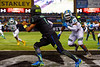 Team Armour QB Kyler Murray scrambles in the endzone trying to avoid Team Highlight DE Byron Cowart.  2015 Under Armour All-America High School Football Game.  January 2nd, 2015. Gator Country photo by David Bowie.