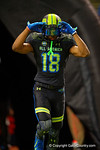 Team Armour WR DaMarkus Lodge runs out during player introductions.  2015 Under Armour All-America High School Football Game.  January 2nd, 2015. Gator Country photo by David Bowie.