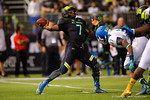 Team Armour QB Brandon Wimbush throws a deep ball during the second quarter.  2015 Under Armour All-America High School Football Game.  January 2nd, 2015. Gator Country photo by David Bowie.