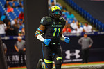 Team Armour ILB Jeffrey Holland runs out during player introductions.  2015 Under Armour All-America High School Football Game.  January 2nd, 2015. Gator Country photo by David Bowie.