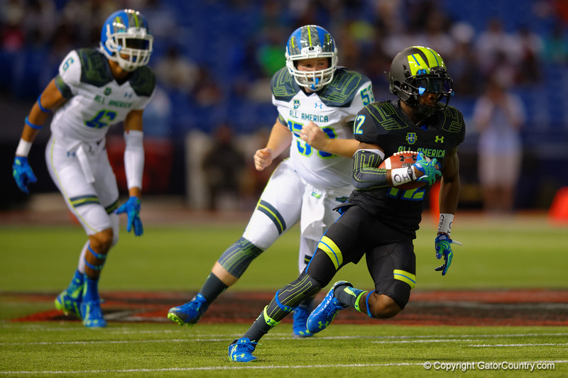 Team Armour WR Christian Kirk cuts up field.  2015 Under Armour All-America High School Football Game.  January 2nd, 2015. Gator Country photo by David Bowie.