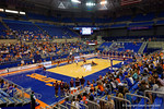 An overview of the Stephen C. O'Connell Center during the second set in the match.  Florida Gators Volleyball vs Mississippi State Bulldogs.  October 26th, 2014. Gator Country photo by David Bowie.