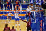 Florida Gators Volleyball player Carli Snyder leaps up for the ballduring the second set of the match.  Florida Gators Volleyball vs Mississippi State Bulldogs.  October 26th, 2014. Gator Country photo by David Bowie.