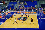 An overview during the second set of the match.  Florida Gators Volleyball vs Mississippi State Bulldogs.  October 26th, 2014. Gator Country photo by David Bowie.