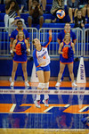 Florida Gators Volleyball player Mackenzie Dagostino serves the ball during the third set in the match.  Florida Gators Volleyball vs Mississippi State Bulldogs.  October 26th, 2014. Gator Country photo by David Bowie.