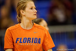Florida Gators Volleyball player Nikki O'Rourke during pre-game warm ups. Florida Gators Volleyball vs Mississippi State Bulldogs.  October 26th, 2014. Gator Country photo by David Bowie.