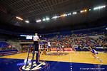 An overview from courtside during the first set.  Florida Gators Volleyball vs Mississippi State Bulldogs.  October 26th, 2014. Gator Country photo by David Bowie.