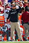 USC Gamecocks head coach Steve Spurrier looks on from the sidelines during the second quarter.  Florida Gators vs South Carolina Gamecocks.  November 14th, 2014. Gator Country photo by David Bowie.