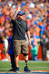A veteran is honored on the field during the second quarter.  Florida Gators vs South Carolina Gamecocks.  November 14th, 2014. Gator Country photo by David Bowie.