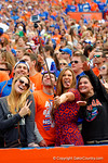 Florida Gator fans pose for a selfie with their gopro.  Florida Gators vs South Carolina Gamecocks.  November 14th, 2014. Gator Country photo by David Bowie.