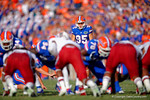 Florida Gators kicker Francisco Velez lines up for a field goal attempt that is blocked during the fourth quarter.  Florida Gators vs South Carolina Gamecocks.  November 14th, 2014. Gator Country photo by David Bowie.