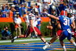 USC Gamecocks punter Tyler Hull punts out of the endzone during the second quarter.  Florida Gators vs South Carolina Gamecocks.  November 14th, 2014. Gator Country photo by David Bowie.