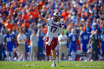 USC quarterback Dylan Thompson throws downfield during the first quarter.  Florida Gators vs South Carolina Gamecocks.  November 14th, 2014. Gator Country photo by David Bowie.