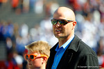Former Florida Gators quarterback Danny Wuerffel watches on from the sideline.  Florida Gators vs South Carolina Gamecocks.  November 14th, 2014. Gator Country photo by David Bowie.