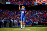 Florida Gators defensive back Jalen Tabor attempts to pump up the crowd during the fourth quarter.  Florida Gators vs South Carolina Gamecocks.  November 14th, 2014. Gator Country photo by David Bowie.