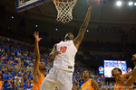 Florida Gators forward Dorian Finney-Smith lays the ball in during the first half.  Florida Gators vs Tennessee Vols.  February 28th, 2015. Gator Country photo by David Bowie.