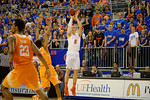 Florida Gators forward Alex Murphy makes a three pointer during the second half.  Florida Gators vs Tennessee Vols.  February 28th, 2015. Gator Country photo by David Bowie.